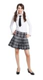 Happy schoolgirl Royalty Free Stock Photo