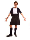Happy schoolgirl Stock Images