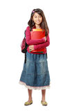 Happy schoolgirl Royalty Free Stock Photography