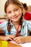 Happy schoolgirl Stock Image