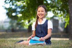 Happy schoolgirl Royalty Free Stock Images
