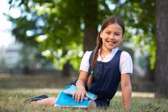 Happy schoolgirl Stock Photos
