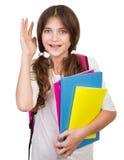 Happy schoolgirl portrait Stock Images