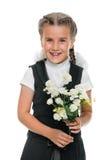 Happy schoolgirl Stock Images