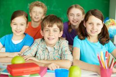 Happy schoolkids Royalty Free Stock Image