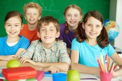 Happy schoolkids Royalty Free Stock Photography