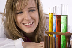 Happy scientist Royalty Free Stock Image