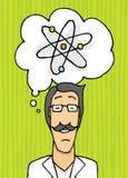 Happy scientist thinking Stock Photo