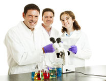 Happy Scientists in Lab Stock Images