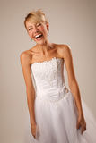 Happy screaming bride Stock Images