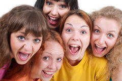 Happy screaming girls Royalty Free Stock Photos
