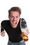 Happy screaming guy! Royalty Free Stock Image