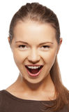 Happy screaming teenage girl Stock Photo