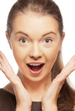 Happy screaming teenage girl Royalty Free Stock Photography