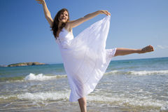 Happy in the sea Royalty Free Stock Photography