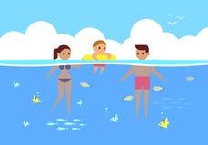 Happy sea, vector Stock Images
