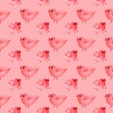 Happy seamless pattern. With Birds Royalty Free Stock Photography