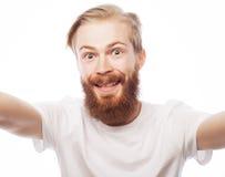 Happy selfie. Stock Image