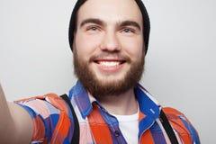 Happy selfie. Stock Photo