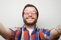 Happy selfie. Royalty Free Stock Photos