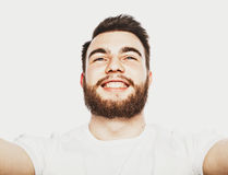 Happy selfie. Royalty Free Stock Images