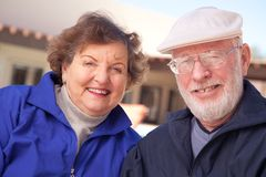 Happy Senior Adult Couple Stock Image