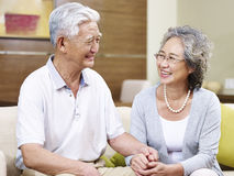 Happy senior asian couple Royalty Free Stock Photography