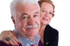 Happy Senior Business Couple Smiling at the Camera Stock Photos
