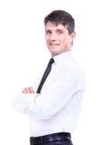Happy senior business man Stock Photos