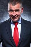Happy senior business man smiling Royalty Free Stock Image