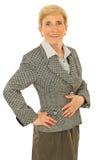 Happy senior business woman Stock Photography