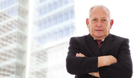 Happy senior businessman Stock Photos