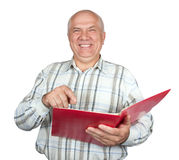 Happy senior businessman Royalty Free Stock Photos