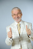 Happy senior businessman Stock Images