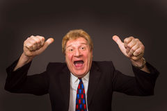 The happy senior businessman Royalty Free Stock Photos