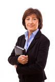 Happy senior businesswoman Stock Photography