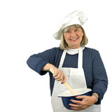 Happy Senior Chef Stock Images