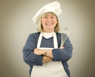 Happy Senior Chef Stock Images