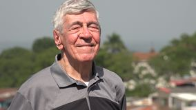 Happy Senior Citizen Or Old Man stock video