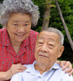 A happy senior couple. An intimate senior couple embraced Royalty Free Stock Photography