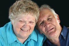 Happy Senior Couple. Enjoy a laugh Stock Photography