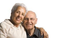 Happy senior couple. Handsome senior married couple  on white background Royalty Free Stock Photo