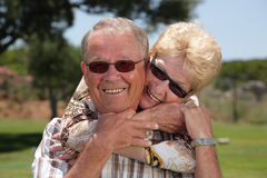 Happy senior couple Royalty Free Stock Images