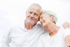 Happy senior couple. Active and happy senior couple royalty free stock photography
