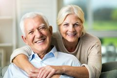 Free Happy Senior Couple At Home Royalty Free Stock Photography - 143708117