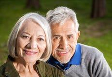 Happy Senior Couple At Campsite Stock Image