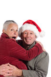 Happy senior couple at christmas Stock Photos
