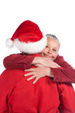 Happy senior couple at christmas Stock Image