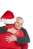 Happy senior couple at christmas Royalty Free Stock Photo