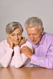 Happy senior couple. Close-up portrait of a happy senior couple at home Royalty Free Stock Photos